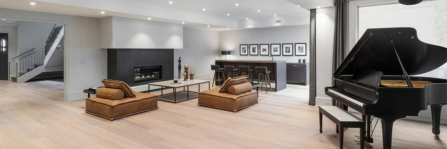 living room home renovation in west point grey